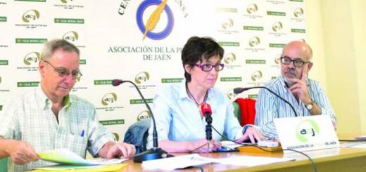 Antonio Martínez, Concepción Paredes y Juan Checa presentan la campaña. Emilio Arroyo