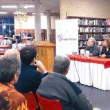El matemático y ensayista italiano Piergiorgio Odifreddi en una charla en la pasada Feria del Libro, en el Fondo de Cultura Económica. Cortesía Grupo Penta