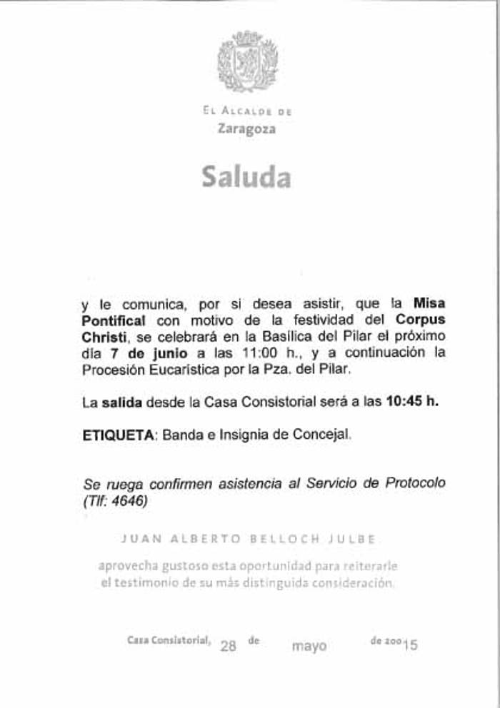 Saluda Zaragoza Corpus 20150526