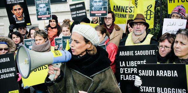 La detención y el castigo a Badawi han generado una ola de protestas en todo el mundo. © AI.