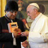 evo morales con Bergoglio
