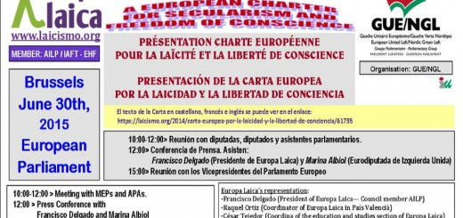 Carta Laicidad Parlamento Europeo 2015 jun