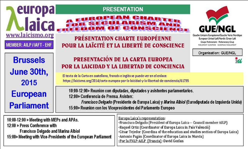 Carta Laicidad Parlamento Europeo 2015 jun