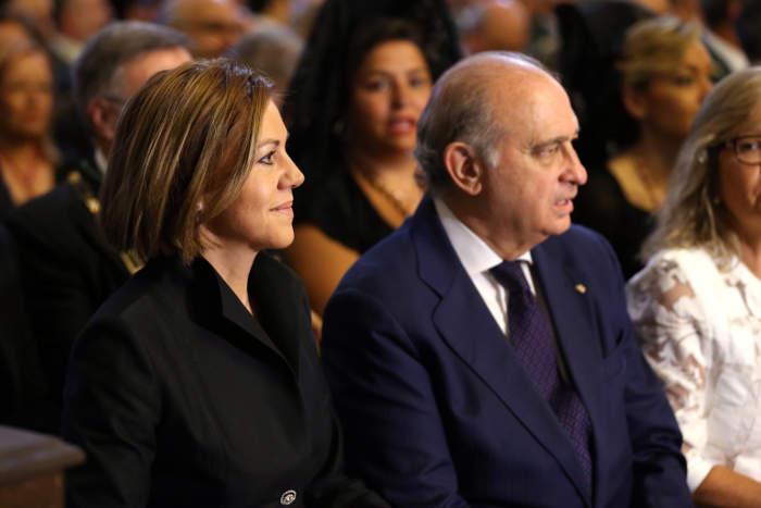 Cospedal y Jorge Fernandez ministro Interior en la misa del Corpus