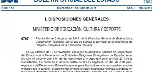 Curriculo Evangelico 2015 Primaria