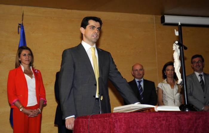 Javier Cuenca tomando posesión como Delegado de la Junta de Comunidades en Albacete en 2011.