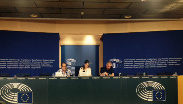 Presenta Carta Laicidad Parlamento Europeo 2015 Rueda de prensa 1