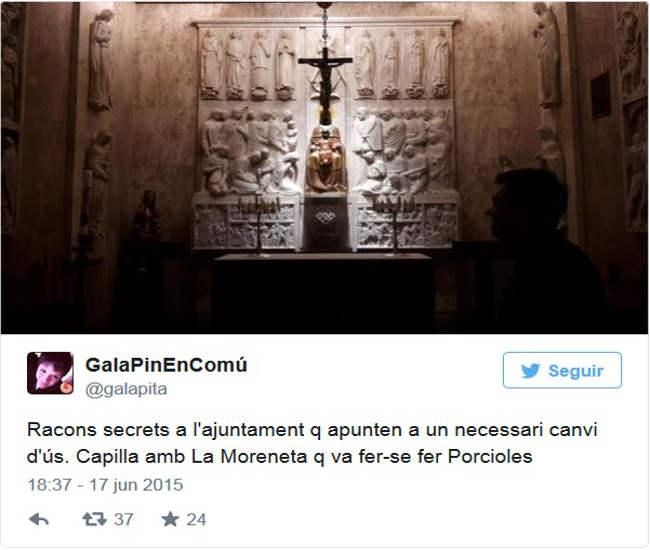 capilla Ayuntamiento Barcelona Gala Pin