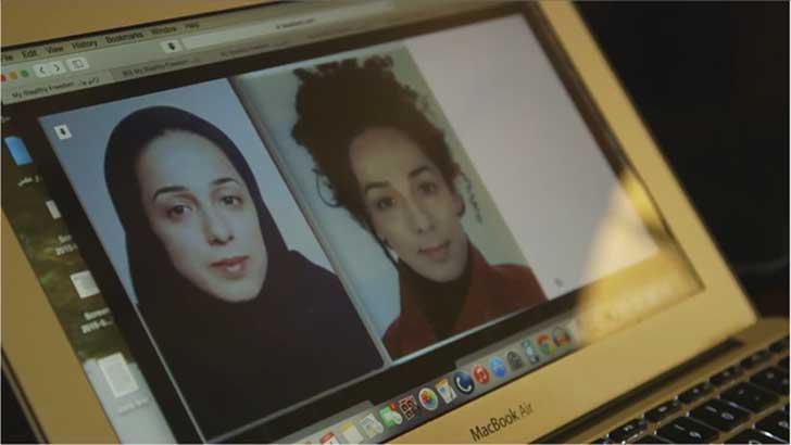 mujeres Iran con pelo descubierto 2015