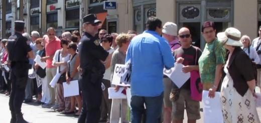 protesta MHUEL Corpus 2015 Zaragoza 2
