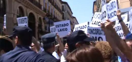 protesta MHUEL Corpus 2015 Zaragoza