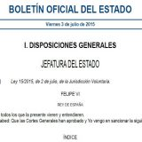 BOE ley jurisdiccion voluntaria