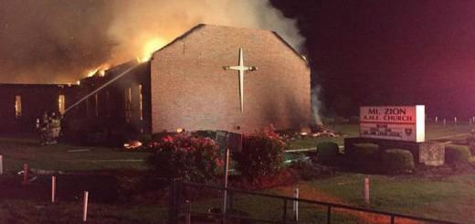 iglesia metodista incendiada USA 2015