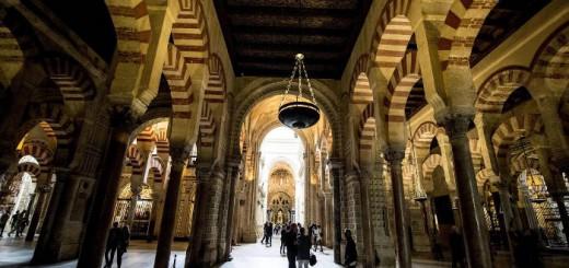 mezquita de Cordoba con turistas