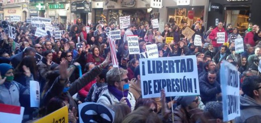 protesta No ley mordaza 2015