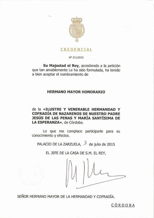 Felipe VI hermano Esperanza Cordoba