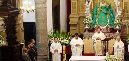 alcalde santa maria de Guia misa 2015 Canarias