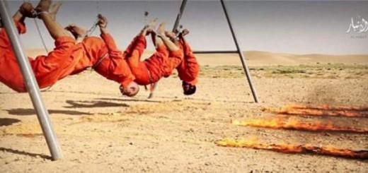 estado islamico quema vivos cuatro chiis