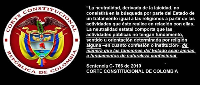 laicidad sentencia Colombia