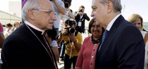 ministro Interior Fernandez Diaz y obispo Avila 2015