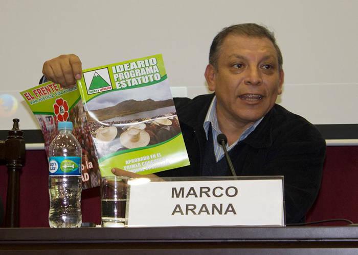 Marco Arana candidato presidencial Peru 2015