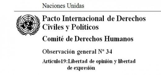 ONU Derechos Humanos libertad expresion
