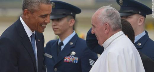 Obama y Bergoglio USA 2015
