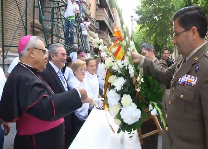 Ofrenda floral V Angustias Granada Ejercito de Tierra