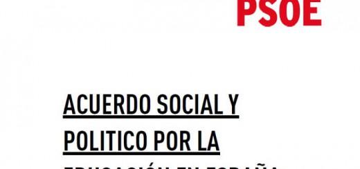 Pacto educativo PSOE 2015