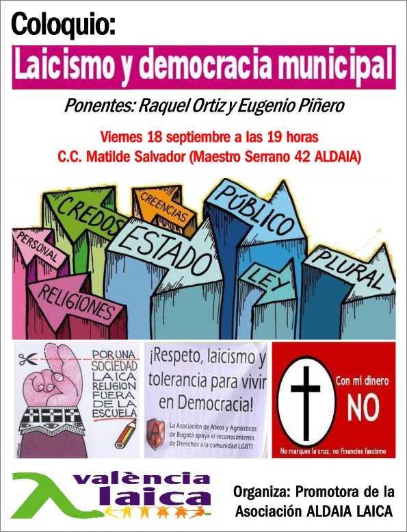 cartel acto Valencia Laica Aldaia 2015 a