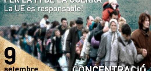 concentracion refugiados Valencia 2015
