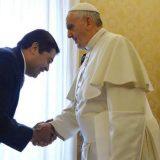 presidente Honduras con Bergoglio