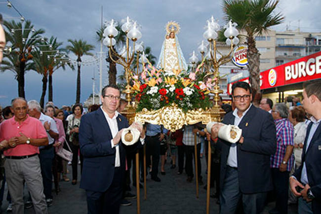 virgen Benidorm 2015 procesion alcalde