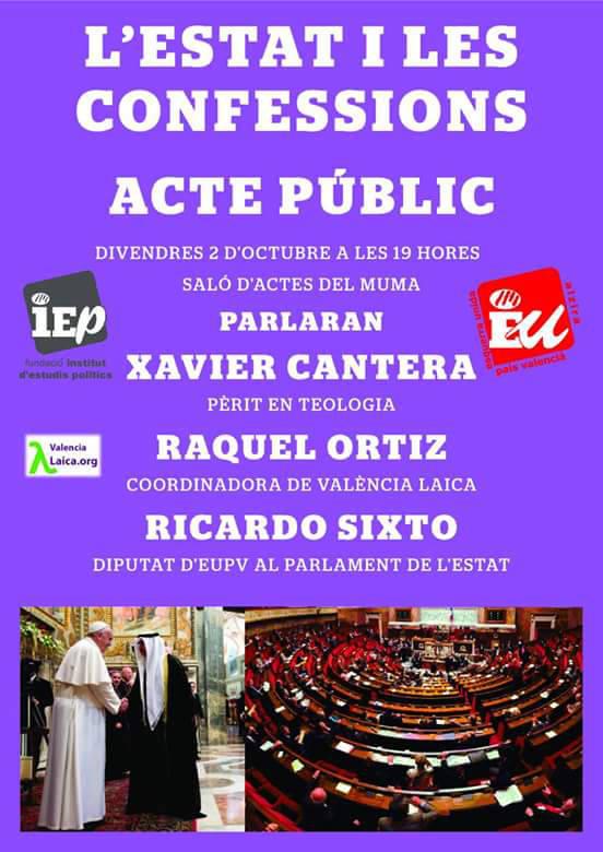Alzira Valencia Laica 20151002 cartel