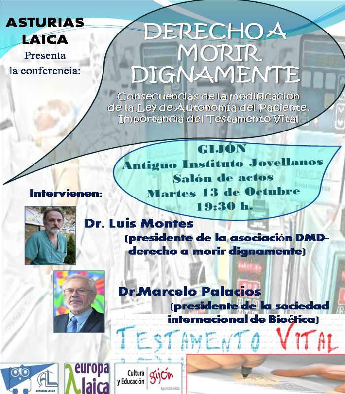 Asturias Laica charla muerte digna 2015 gijon