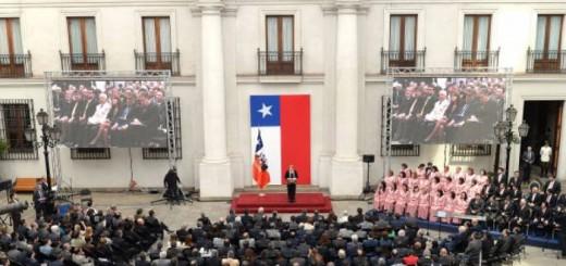 Bachelet Chiel acto protestante 2015