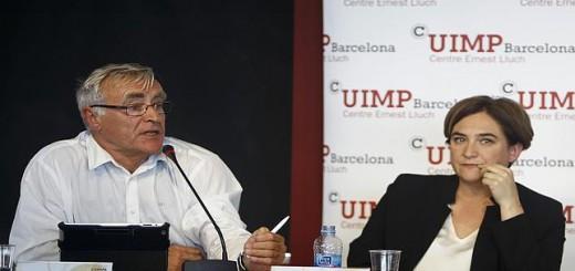 Joan Ribo alcalde de Valencia y Ada Colau de Barcelona 2015