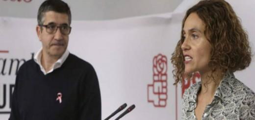 Patxi Lopez y Meritxell Batet PSOE 2015