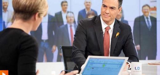 Pedro Sanchez PSOE en TVE 2015