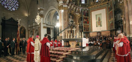 Te deum senyera catedral valencia 2014