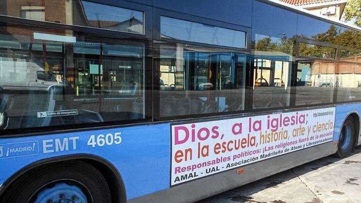 bus ateo Madrid 2015 religion fuera escuela