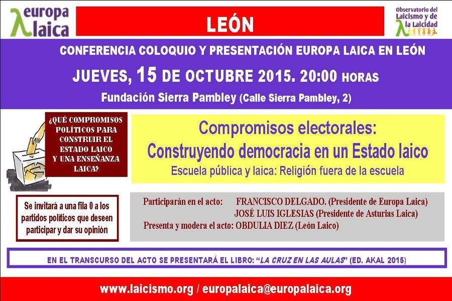 charla en Leon 2015