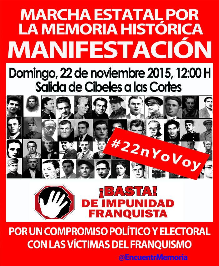 Cartel Julian Rebollo marcha Memoria Historica