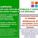 Concentracion congreso religion fuera escuela 2015