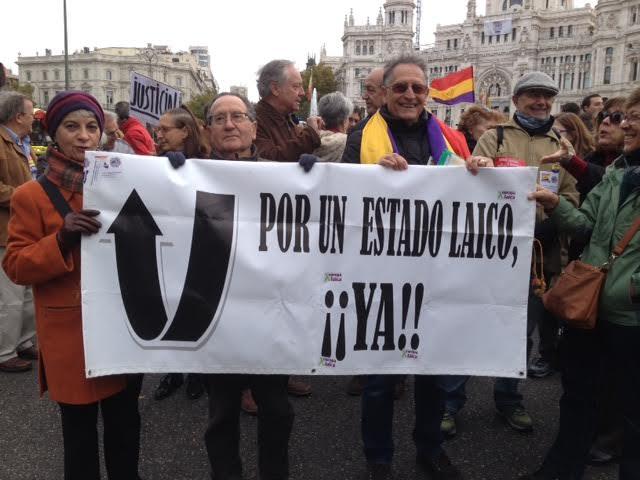 Europa Laica marcha memoria historica Madrid 2015