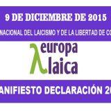Manifiesto 2015 Dia Laicismo