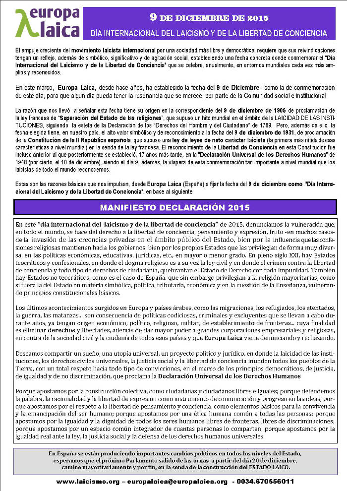 Manifiesto 2015
