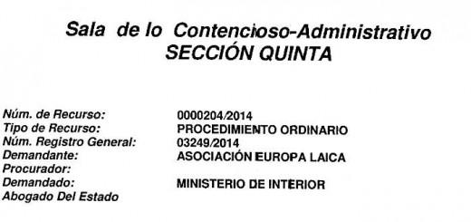 Sentencia Audiencia Nacional medalla Virgen Amor 2015