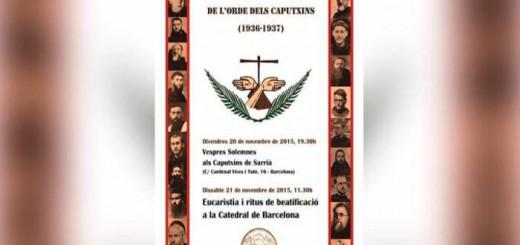 beatificacion martires capuchinos barcelona 2015