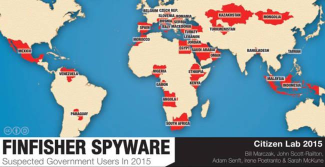 finfisher spyware en el mundo